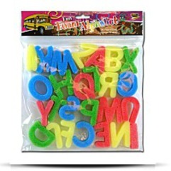 26PC Sponge Alphabet In Poly Bag