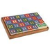 alphabet number blocks storage wooden ages