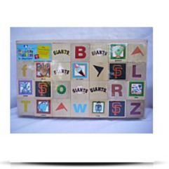 Babies Giants Baseball Alphabet Blocks