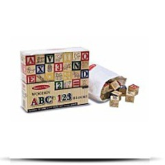 Wooden ABC123 Blocks