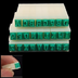 como detachable english alphabet stamps green