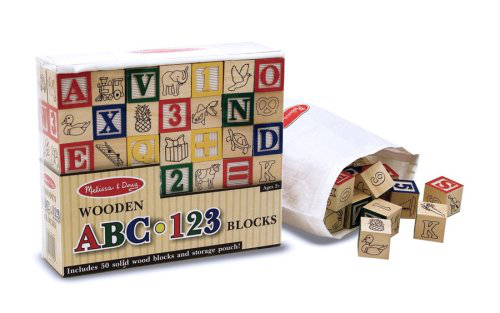Deluxe 50PIECE Wooden ABC123 Blocks