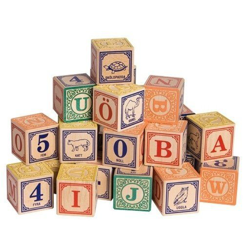 Swedish Alphabet Wooden Blocks