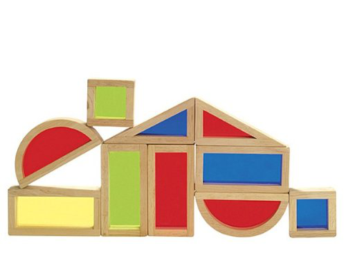 Guidecraft Rainbow Blocks Set - 10 Pieces