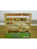 Flip N Play Abc Picture Alphabet Wooden
