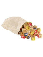 Ryans Room Wooden Toys Bag O Abc Blocks
